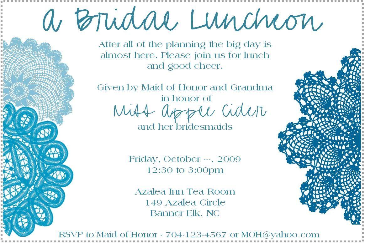 bridal brunch shower invitations wording bridal luncheon