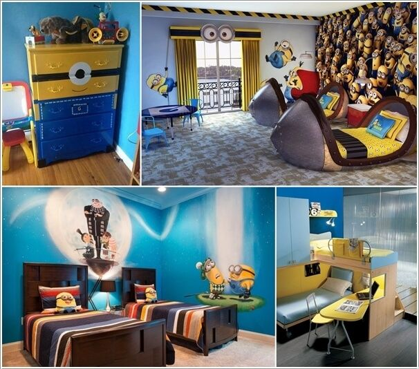 10 cute and cool minions kids room ideas kid rooms for Cool kids rooms decorating ideas
