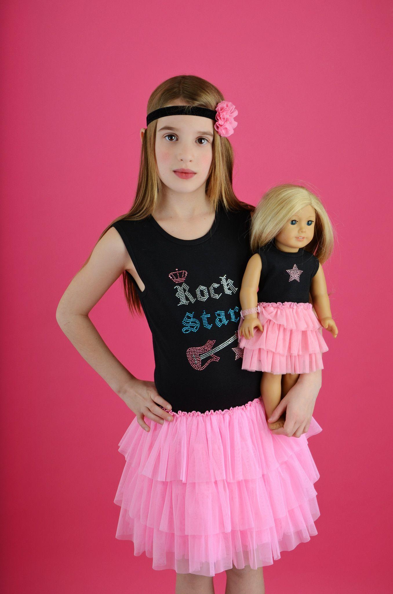 Rock Star Made to Match Girls and Doll Tutu Dress Set | Charlotte\'s ...