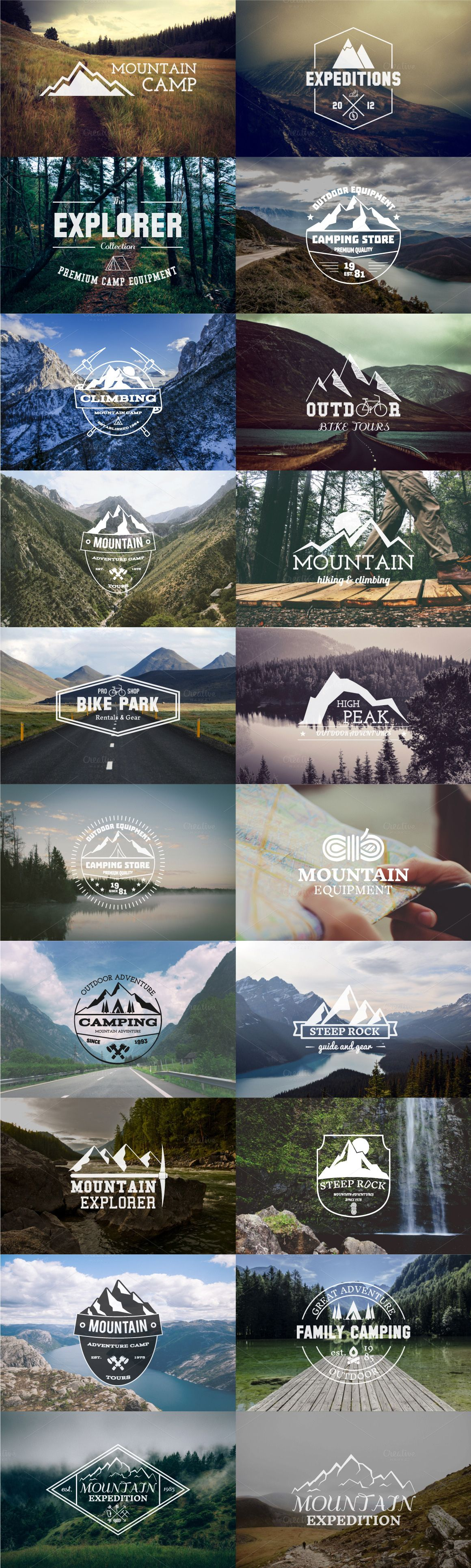 20 Adventure Badges & Logos #design Download: https://creativemarket.com/JeksonJS/342371?u=ksioks