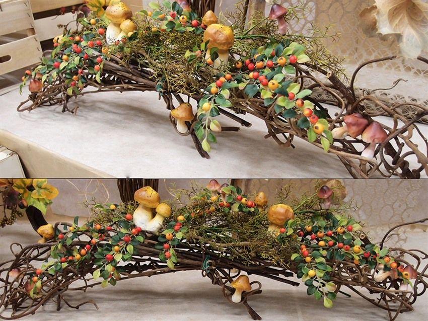Una deliziosa composizione autunnale questa idea realizzata con rametti in legno ornamentali - Rami secchi decorativi ...