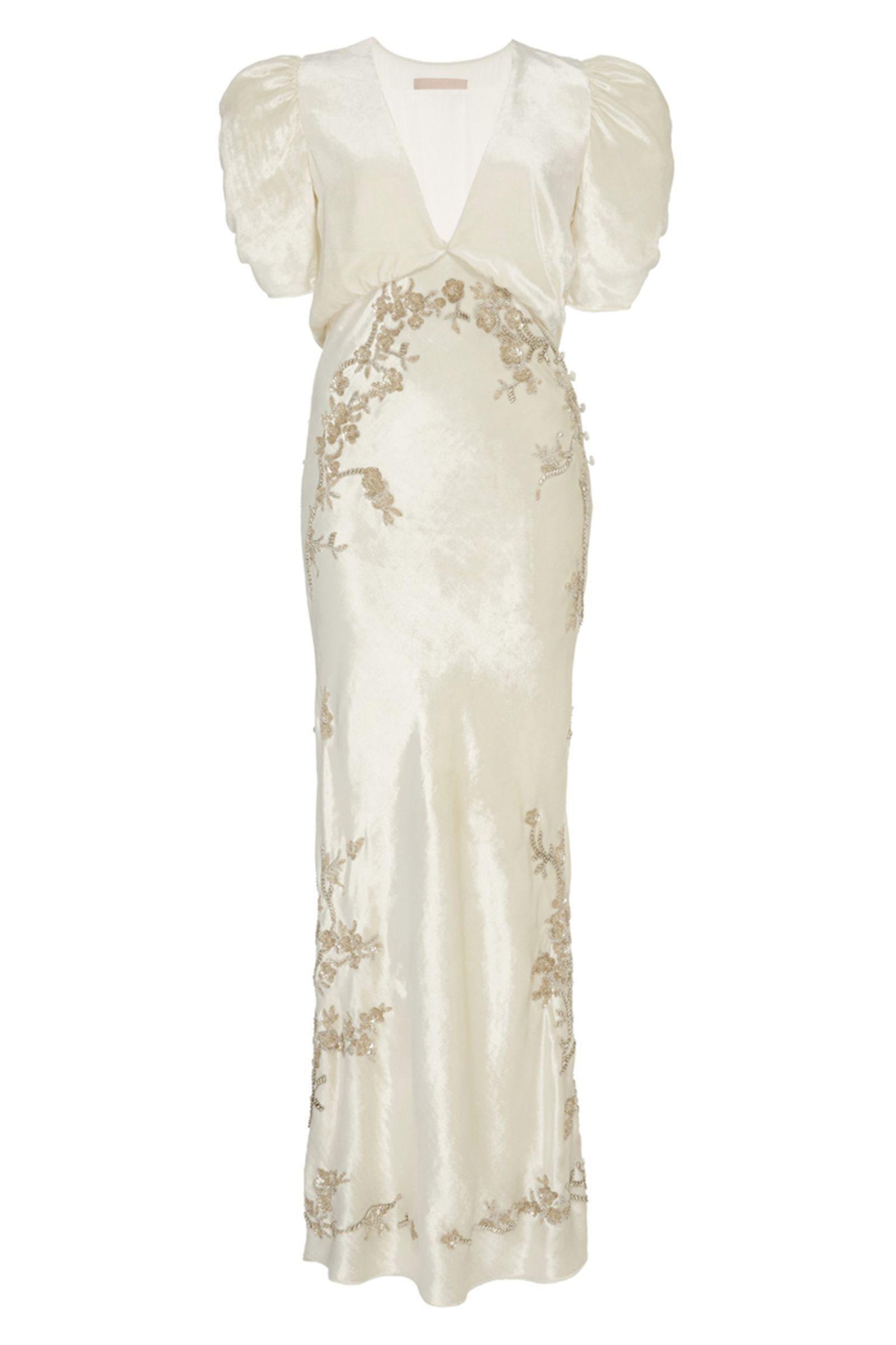 10 Less Fussy Second Wedding Dresses To Wear To The Reception Wedding Dress Long Sleeve Dresses Linen Wedding Dress [ 2400 x 1600 Pixel ]