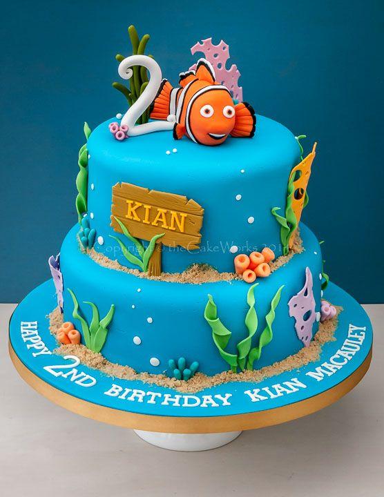Pvjpg  Bolos Aniversário Diversos Pinterest - Finding nemo birthday cake