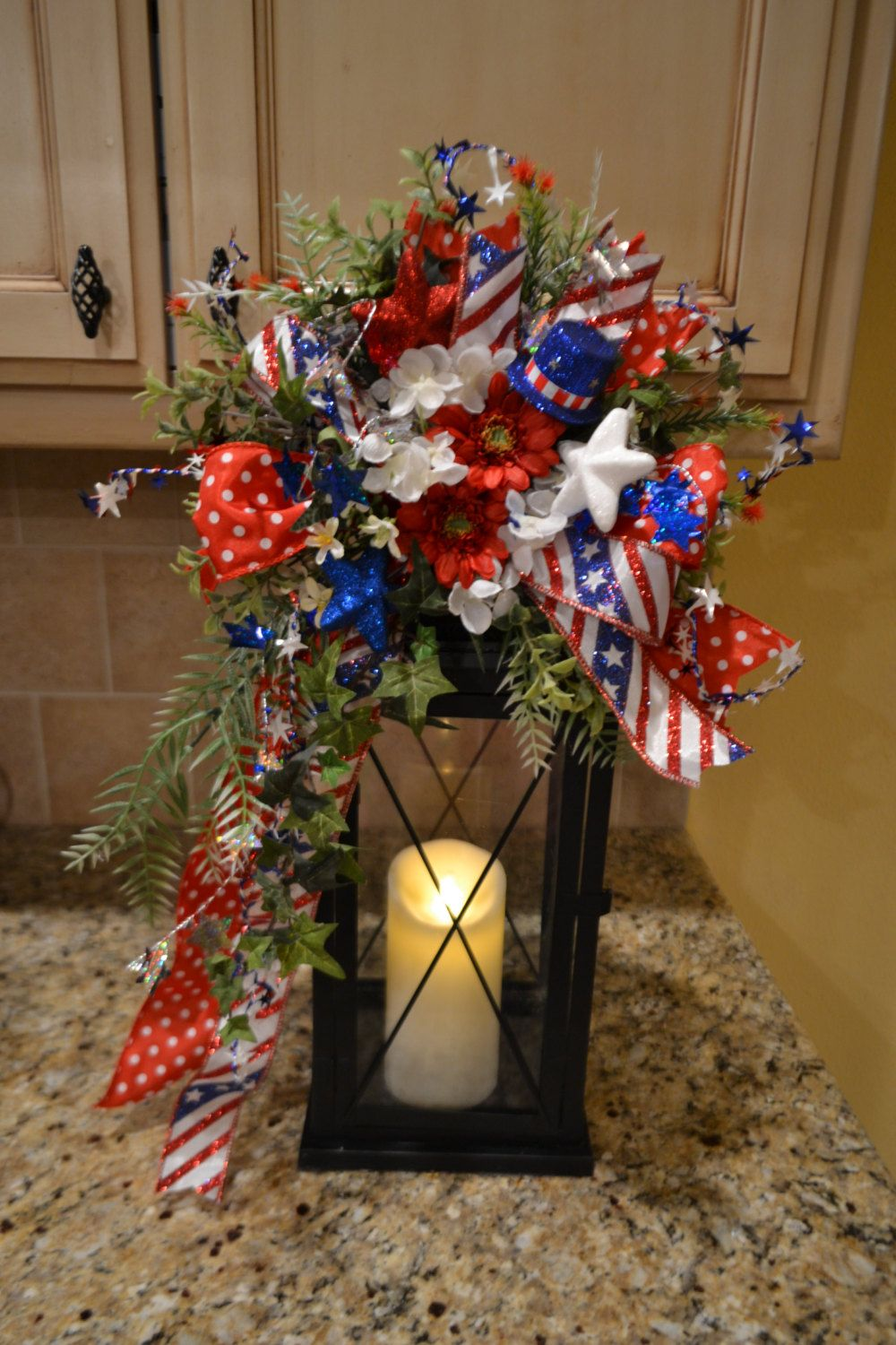 Patriotic Lantern Swag By Kristenscreations On Etsy