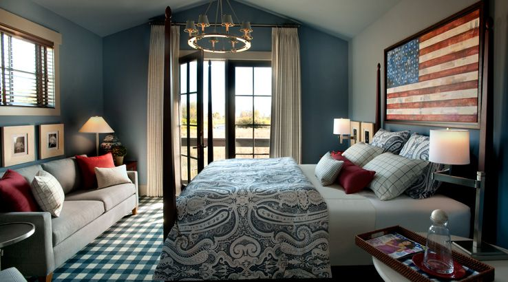 Not Crazy About The Patriotic Theme In The Bedroom, But I Like The Paint  Color