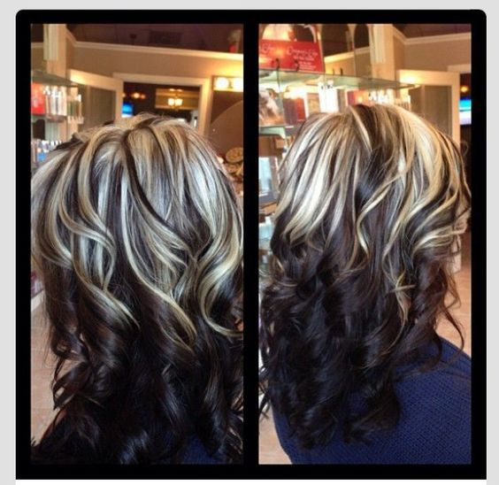 Like this lots inspiration pinterest hair coloring fall all over color with fun chunky highlighting i think this would look awesome with my red hair and blonde highlights pmusecretfo Images