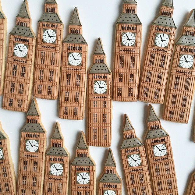 #bigben #landmarks #London #customcookies #bakedideas