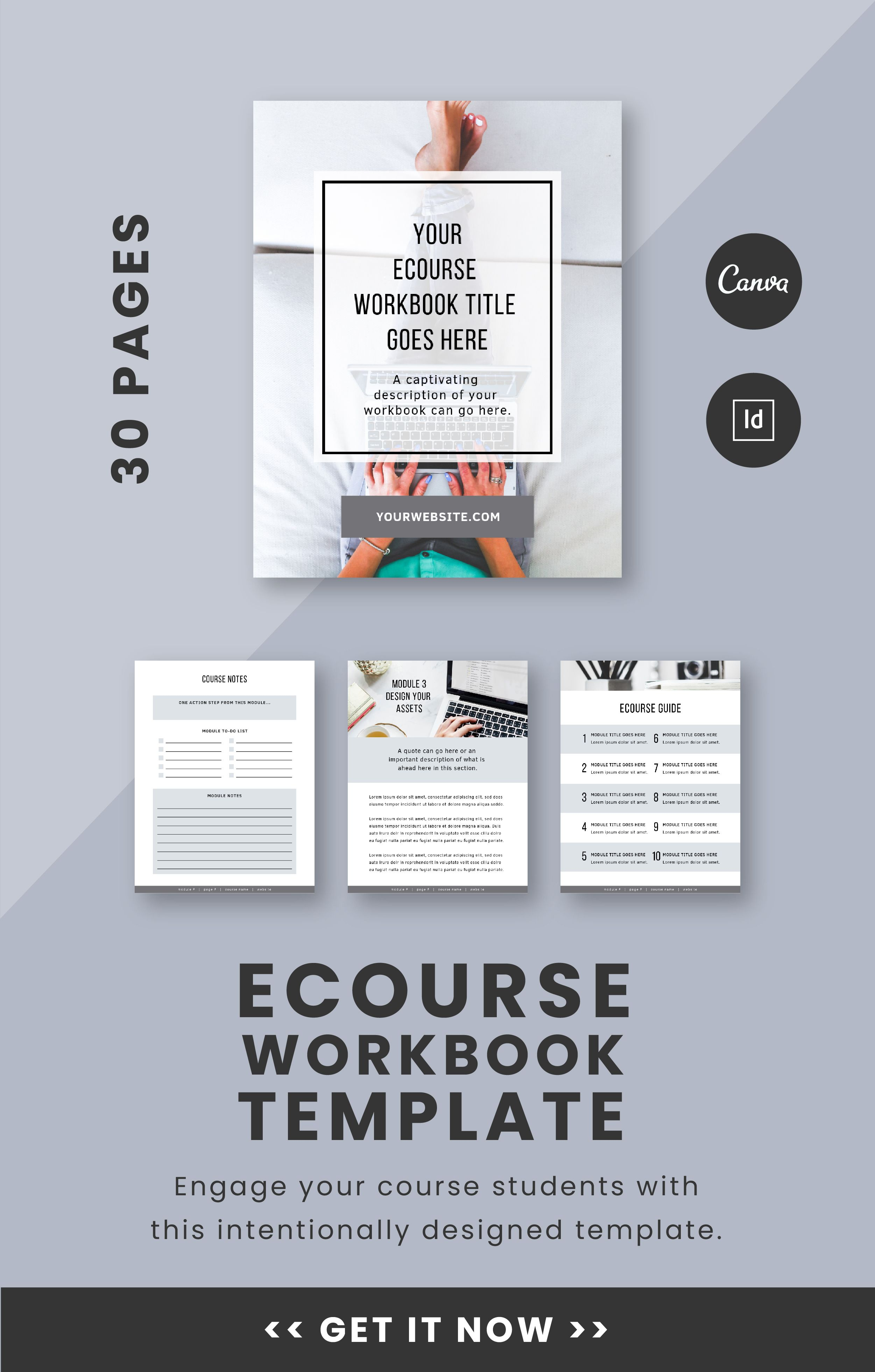 1 4 Page Advertisement Template