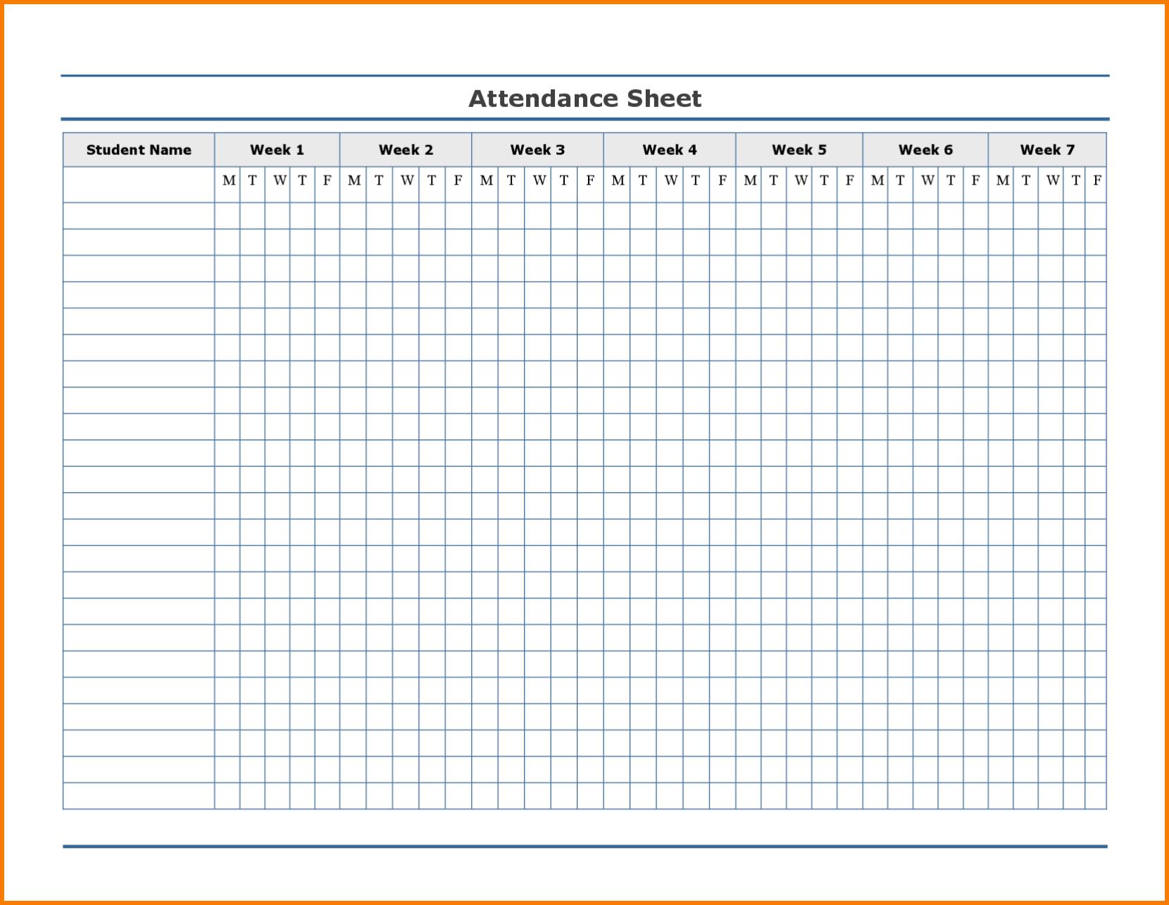 Employee Attendance Excel Sheet