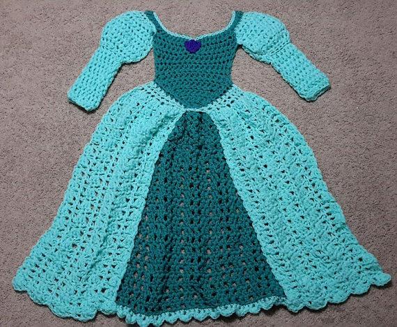 Princess Dress Blanket, green, Crochet Pattern, Digital Download ...