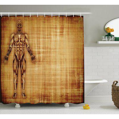 Ambesonne Human Anatomy Grunge Old Parchment Effect Skeleton