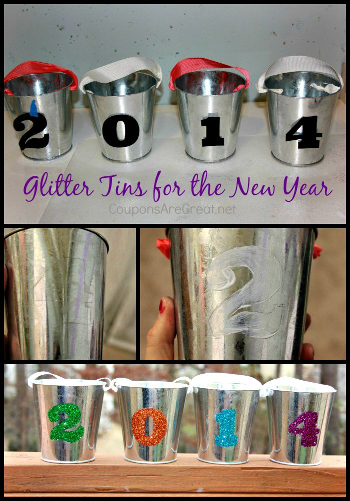 New Years Eve DIY Party Decoration: Glittered Tins 2014 ...