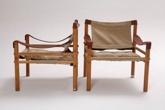 A Pair Of Arne Norell Safari Sirocco Chairs Canvas And By 506070