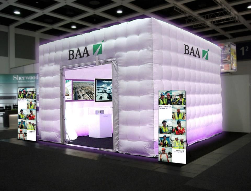 Exhibition Stand Structure : Inflatable structure cube events exhibitions stand