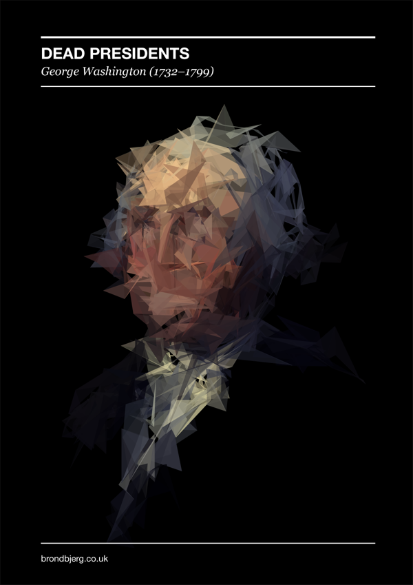 Dead Presidents - #Generative Portraits by Mike Brondbjerg
