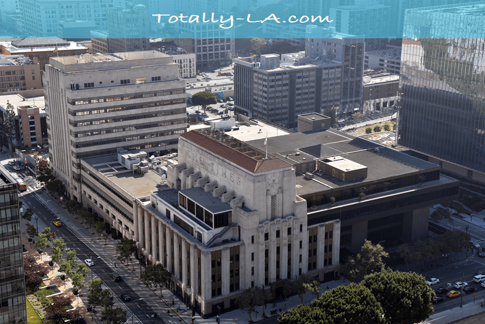 Iconic View Of The Los Angeles Times Building From The Observation Deck Of City Hall Now That The La Times Has Been Forced To Move This City Hall Dtla Time