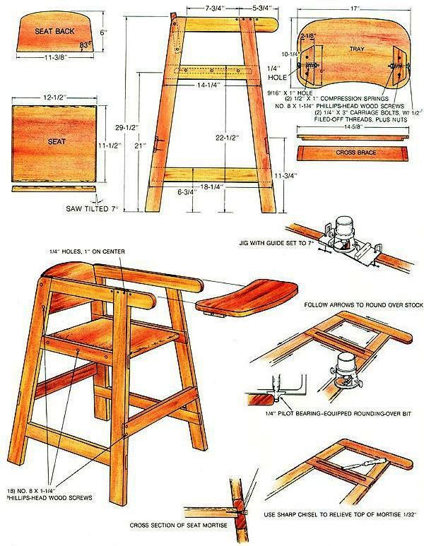 3 In One High Chair Plans White Chaise This Is A Super Useful Every Father Needs With Babys From 1 To Years Old What Would You Think About Making By Yourself So Maybe Day It