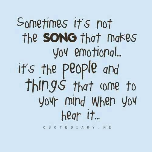 To each of us a song means something different. A different memory and a different emotion.🎶🎶