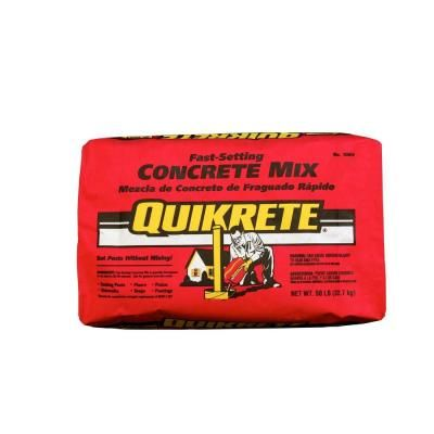 Quikrete 50 Lb Fast Setting Concrete Mix 100450 At The Home Depot