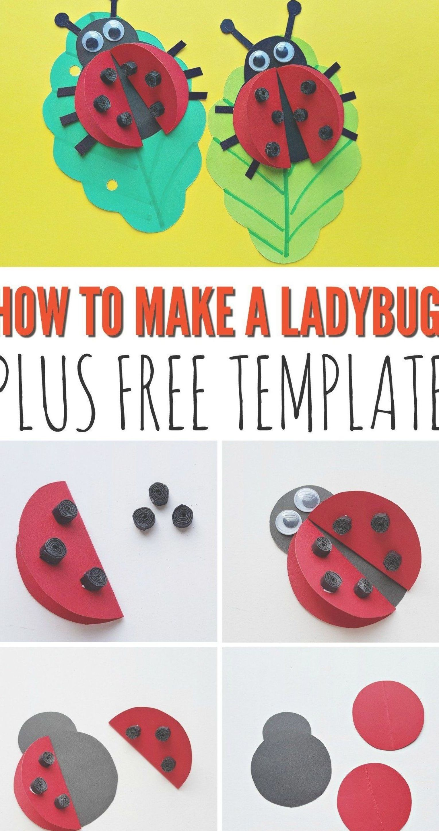 today we have a super easy ladybug craft which is a