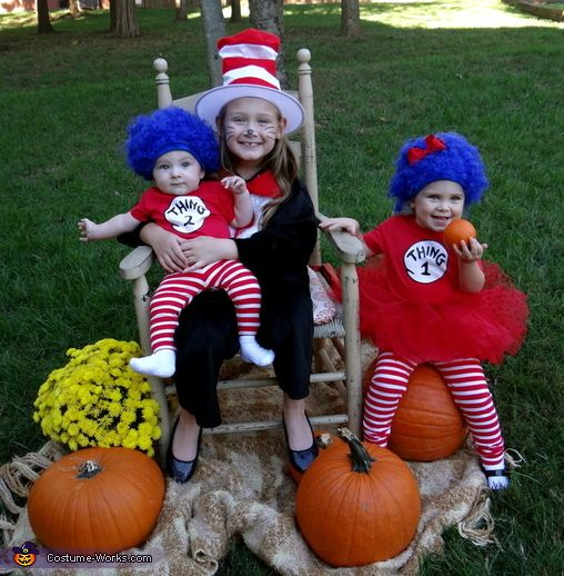 cat in the hat thing 1 and thing 2 2013 halloween costume contest via - Thing 1 Thing 2 Halloween Costume