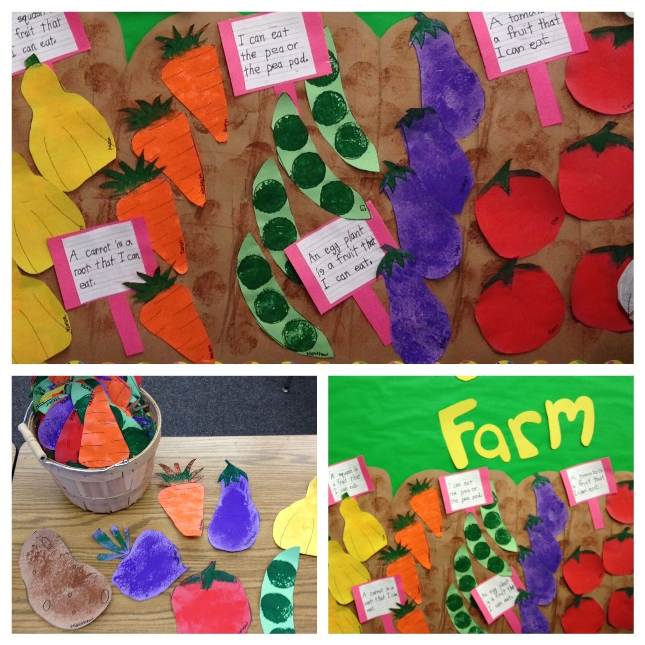 Ooooh Cute Veggies For The Farmer S Garden Add A Bushel Basket And A Few Canning Jars And It