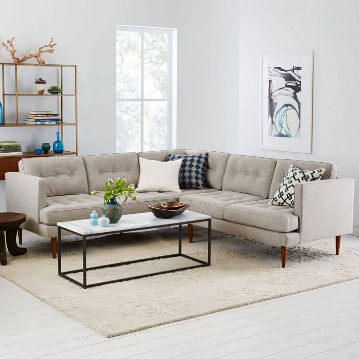 Peggy Mid-Century L-Shaped Sectional | west elm | House and ...