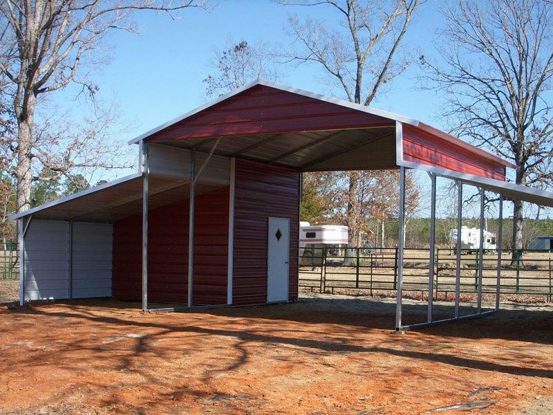 Affordable Post Frame Buildings in TEXAS Metal Wood