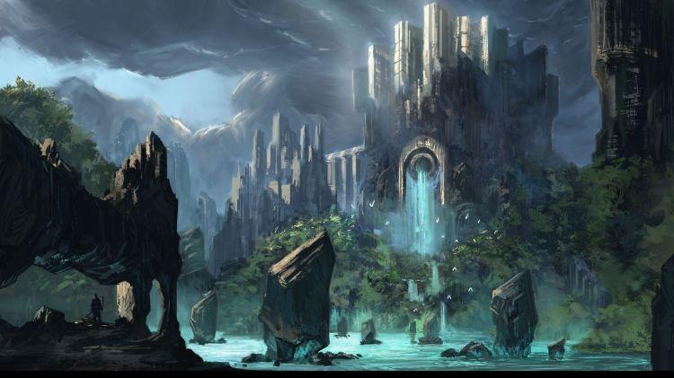 Fonds d'écran Fantasy et Science Fiction > Fonds d'écran Paysages Futuristes Wallpaper N°301072 par mann11 - Hebus.com