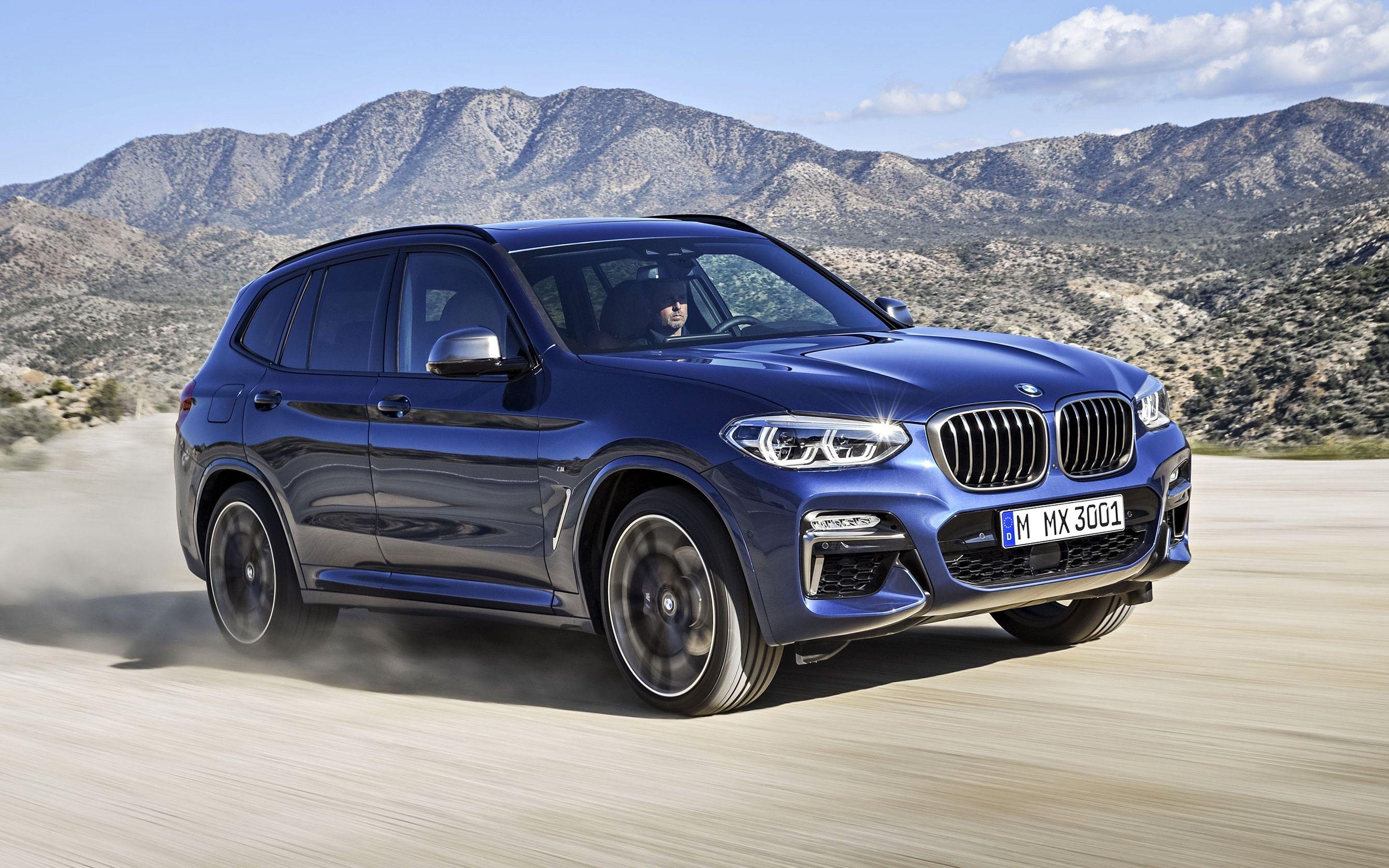 BMW X3, 2019, 4k, xdrive30i, blue luxury crossover, new