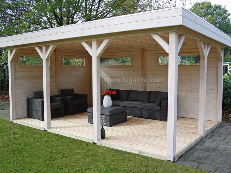 Flat roof gazebos Archives Keops Interlock Log Cabins in