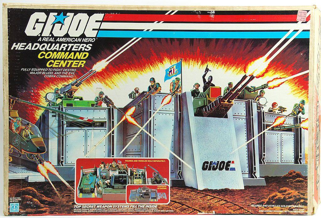GI Joe 1983 HEADQUARTERS COMMAND CENTER Machine Gun