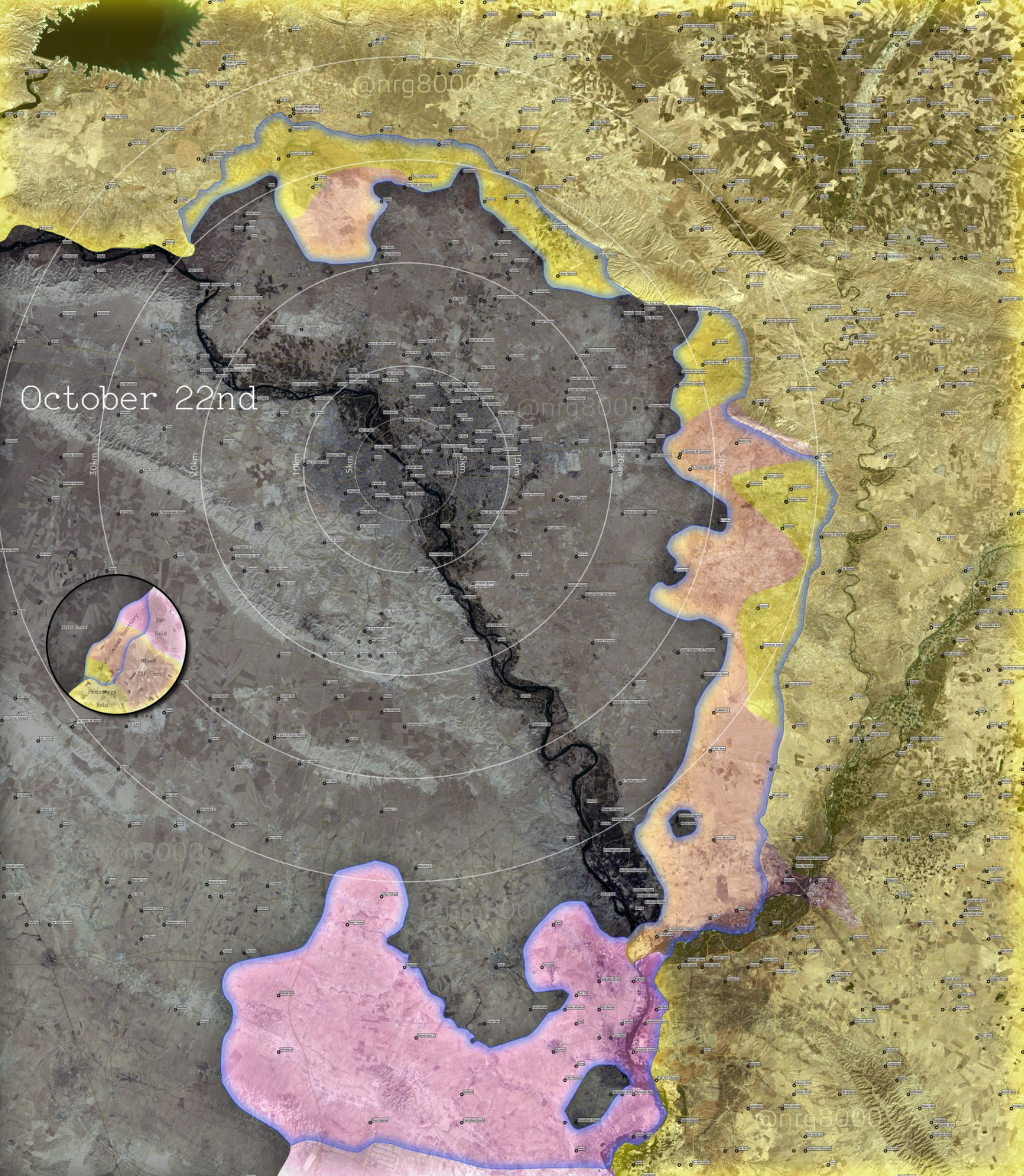Map The situation in N Iraq as
