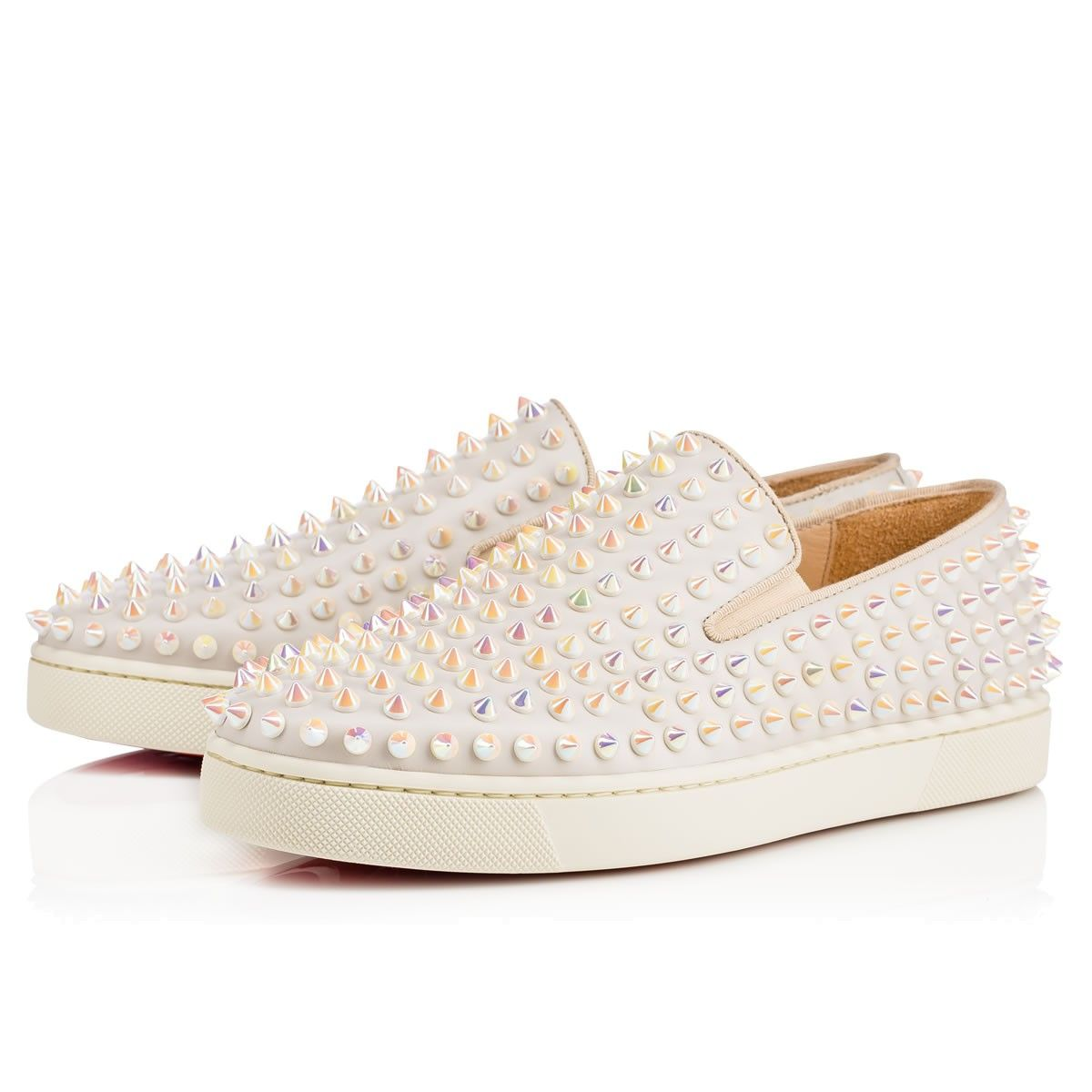 lowest price 45dc7 24f9c CHRISTIAN LOUBOUTIN Roller Boat Woman Calf, White, Calfskin ...