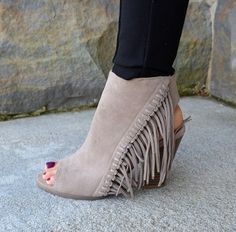 rampage lauryn fringe boots - Google Search