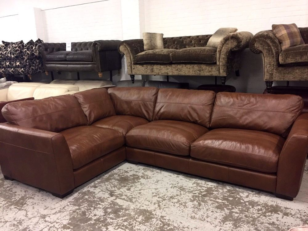Best Ex Display Savannah Corner Sofa Brown Leather Sofa Sofa 400 x 300