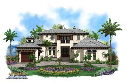 Contemporary House Plan Florida House Plan Beach House Plans Caribbean Homes Mediterranean Style House Plans
