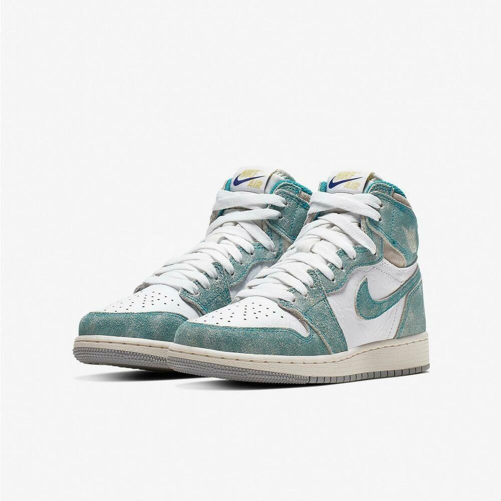 Ebay Sponsored Nike Air Jordan 1 Retro High Og Gs Turbo Green