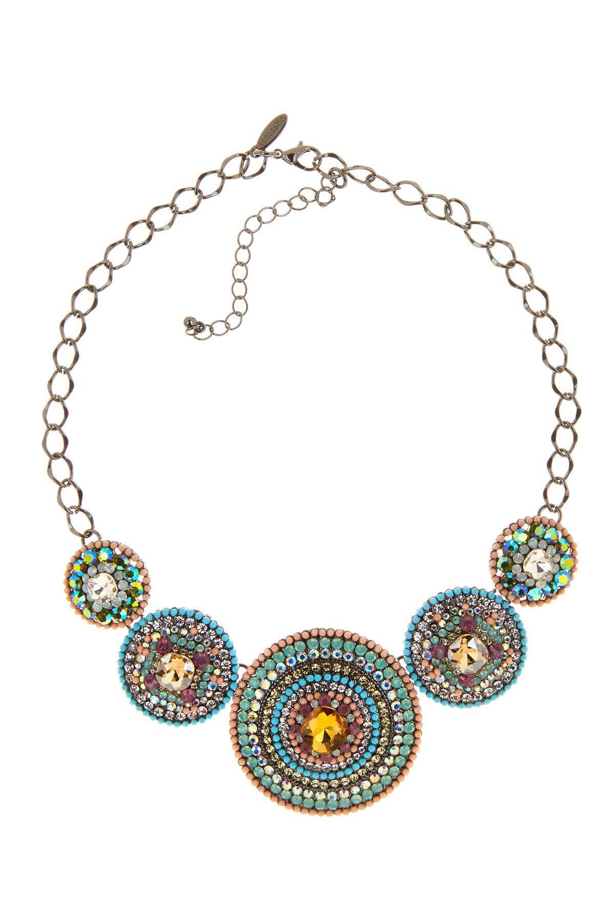 Now trending: statement necklaces.