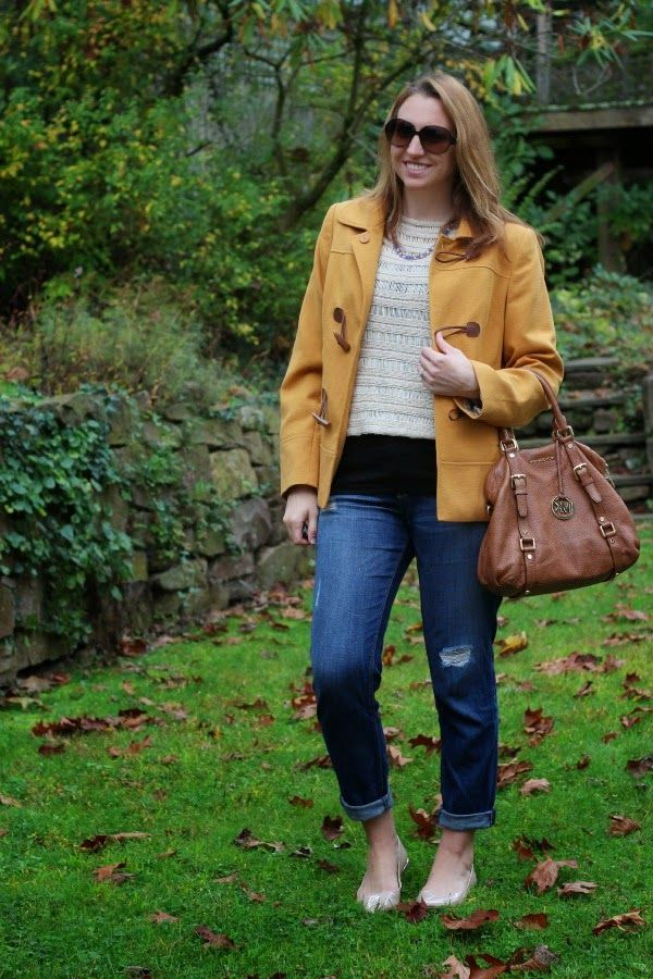 BBCA DAy 10, 2014~ October 10, 2014 See What Katie Wears: Mustard Yellow Fall Coat