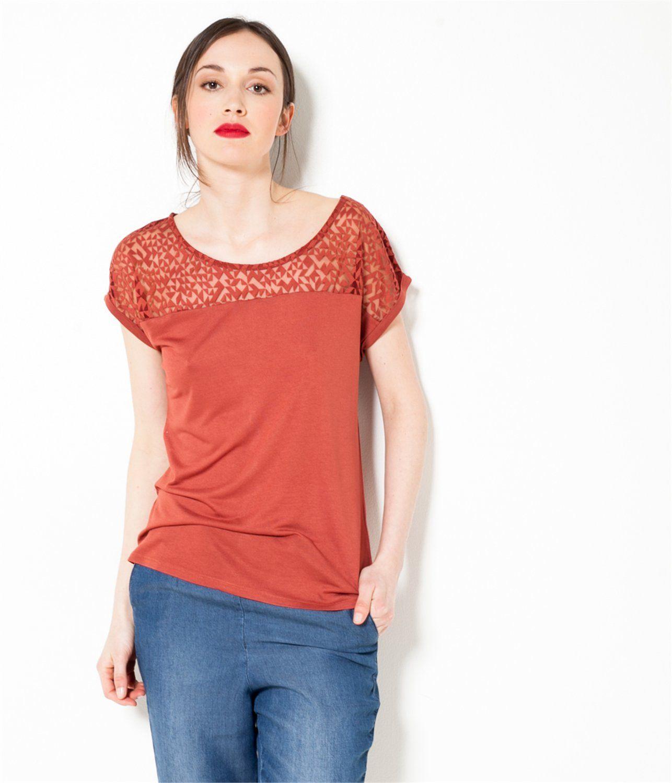 patterned sleeveless top navy blue print - promod | wardrobing