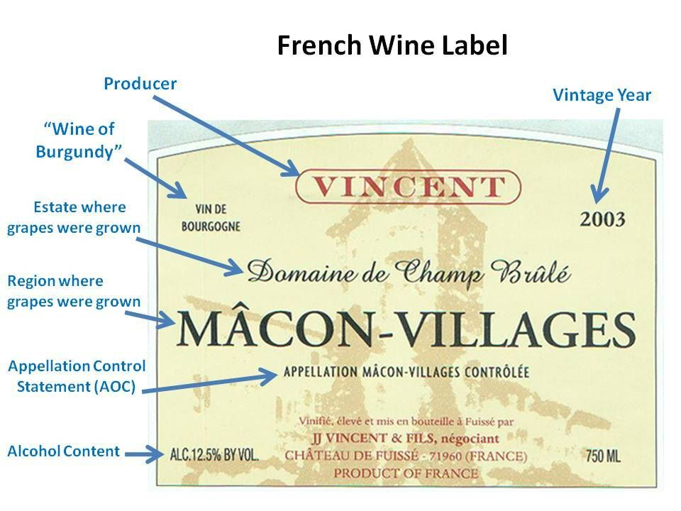 How to read a French Wine Label. For Wines from Bordeaux, Southern Rhône, Languedoc & Loire Valley, Estate is written in largest print than Region & Appelation. For Burgundies and the Northern Rhone, most of time, Appelation is written in largest print.