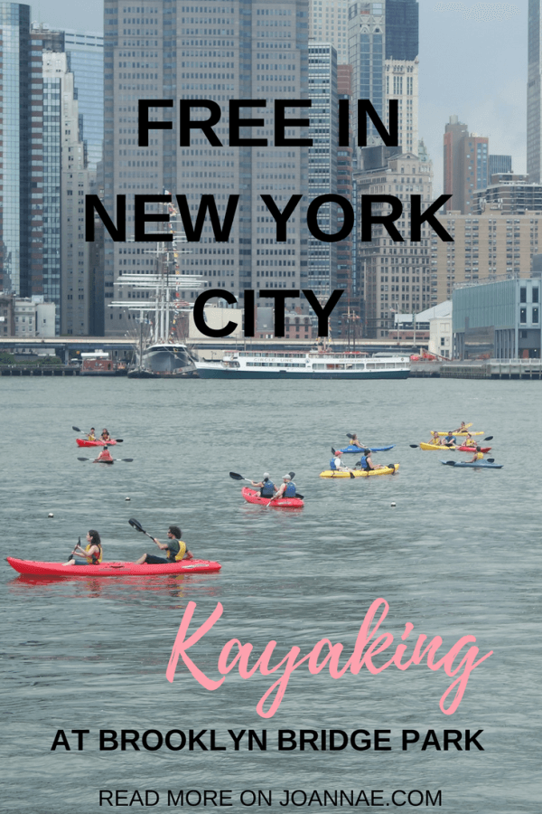 Tips on how to participate in Free Public Kayaking in Brooklyn Bridge Park NYC