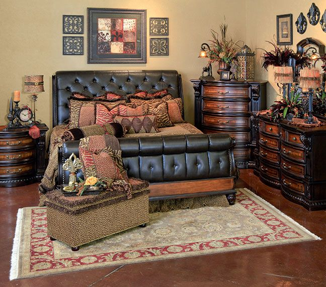 Grand Estates Sleigh Bedroom By Fairmont Nice Decor For Mst Bd - Grand furniture bedroom sets