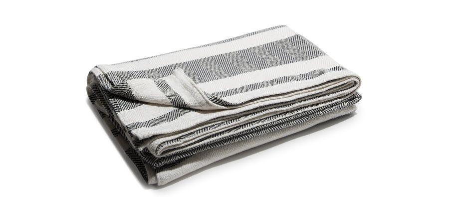 Striped Cotton Picnic Blanket Navy Picnics Blanket And Cotton Unique Navy Cotton Throw Blanket