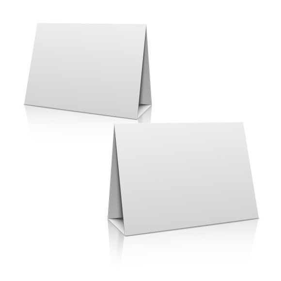 Blank paper stand table holder card Calendar Templates $400 - blank card template
