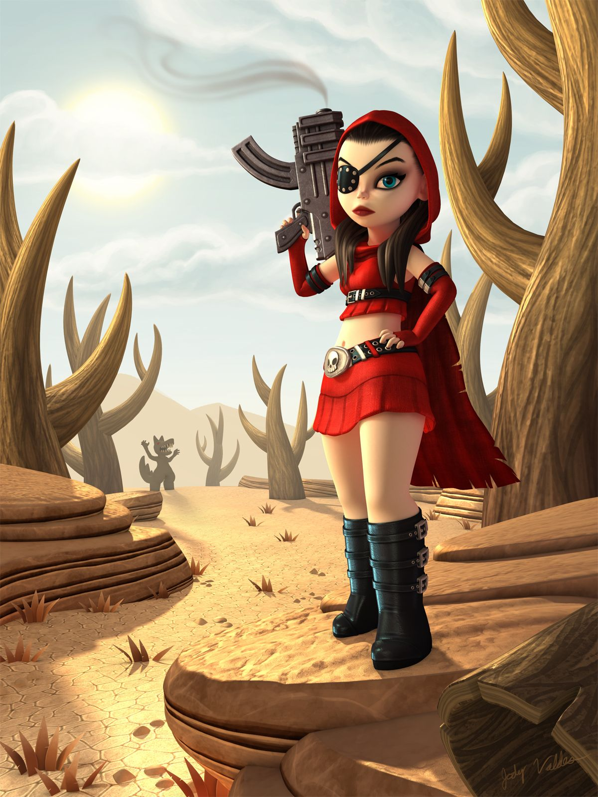 """My, What Big Guns You Have"" by Jody Valdes"