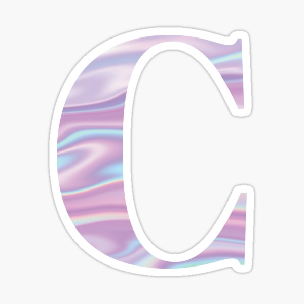 Letter C Holographic Stickers Hologram Stickers Lettering Alphabet Stickers