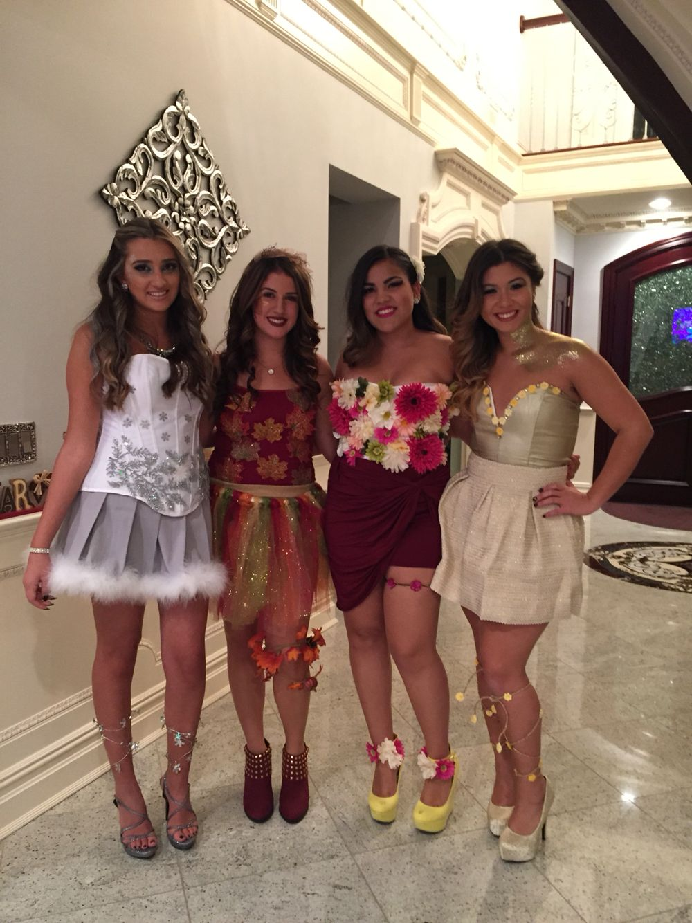 The four seasons costume … Group halloween costumes, Duo