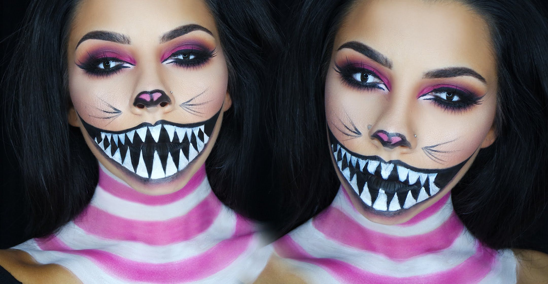 cheshire cat halloween makeup tutorial - Halloween Tutorials